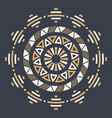abstract circular ornament isolated on dark vector image vector image