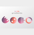 abstract pastel gradient colors simple figure vector image vector image