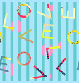 abstract seamless pattern letters love on vector image