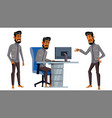 arab man office worker business set saudi vector image
