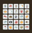 autumn color icon set on a dark background vector image