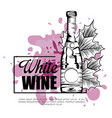 best wine bottle label vector image vector image