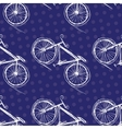 Bicycle seamless pattern on a colored background vector image vector image