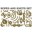 big set nautical rope knots decorative vintage vector image