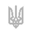 black emblem of ukraine from triangles vector image vector image