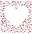 Blank empty heart made of small ones vector image vector image
