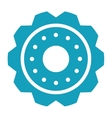 blue gear wheel engine cog icon vector image