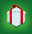 Box icon with ribbon vector image vector image