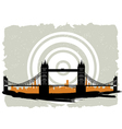bridge grunge vector image vector image