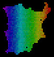 bright pixel koh samui map vector image vector image