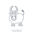 bull Taurus vector image