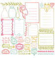 bullet journal and christmas doodle elements vector image vector image