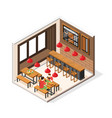 burger house interior composition vector image vector image