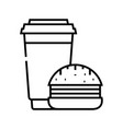 burgers line icon concept sign outline vector image