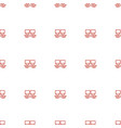 cargo wagon icon pattern seamless white background vector image vector image