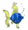 cartoon image of funny fish vector image vector image