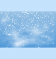 christmas background winter snow landscape vector image vector image