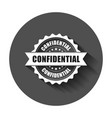 confidential grunge rubber stamp with long shadow vector image