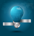 Creative light bulb With globe vector image vector image
