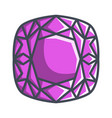 cushion diamond in a flat style vector image vector image