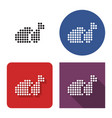 dotted icon fried chicken in four variants vector image vector image