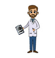 drawing portrait doctor man character standing vector image vector image