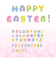 Easter font vector image vector image