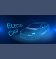 electric car abstract image vector image