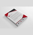 elegant corporate red letterhead template vector image vector image