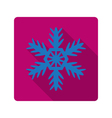 element for flat design snowflake vector image vector image