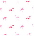 flamingo pink cartoon hand drawn seamless pattern vector image vector image