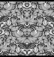 floral paisley seamless pattern black and vector image vector image