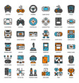 game technology filled outline icon vector image