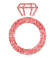 gem ring fabric textured icon vector image vector image