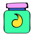 hair gel in a plastic container icon icon cartoon vector image vector image