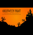 halloween with haunted castle landscape vector image