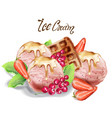 ice cream scoops watercolor delicious banner vector image vector image