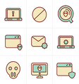 Icons Style Digital criminal icons set vector image vector image