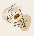line modern minimalist woman face art design print