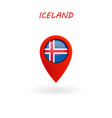 location icon for iceland flag eps file vector image vector image