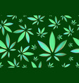 marijuana leaves seamless pattern cannabis vector image vector image