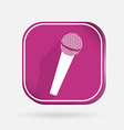 microphone Color square icon vector image vector image
