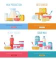 Milk Production Cheese Berry Yogurt Sour Cream vector image vector image