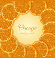 oranges icons card vector image