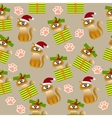 pattern with cute cats vector image vector image