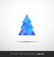polygon christmas tree icon vector image vector image