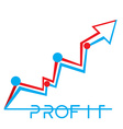 Profit business vector image vector image