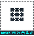 puzzle icon flat vector image
