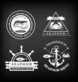 Restaurant menu set of seafood template design vector image vector image