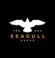 seagull roar flat flying logo icon vector image